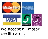 EMF Shielding accept all major credit cards