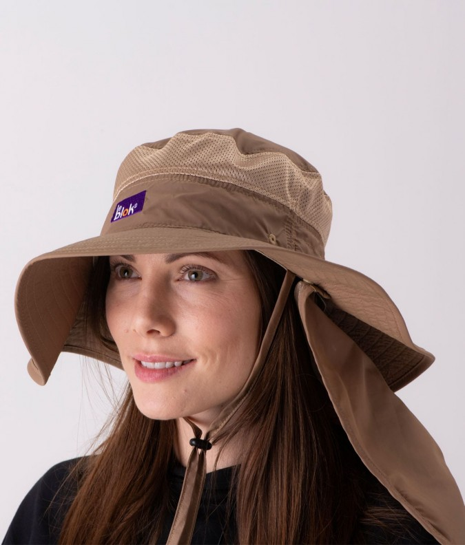 EMF Shielding Safari Hat Leblok with 100% UV Protection
