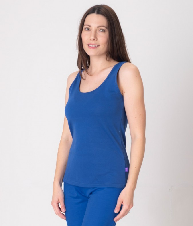 EMF Protective Womens Vest (Bright Blue)