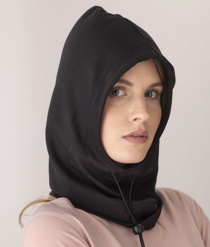 EMF Protective Hooded Snood (Black)