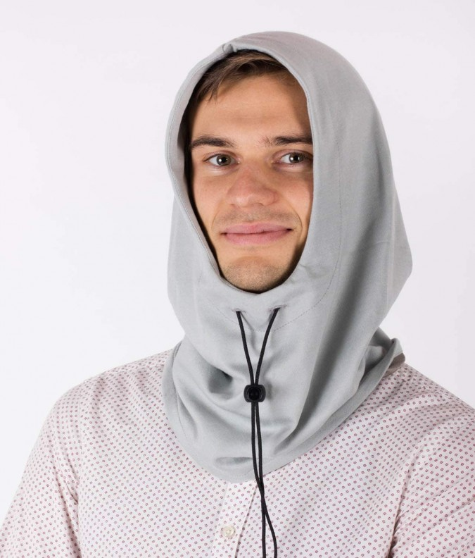 EMF Protective Hooded Snood (Grey)