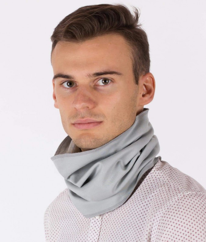EMF Protective Hooped Scarf Leblok (Grey)