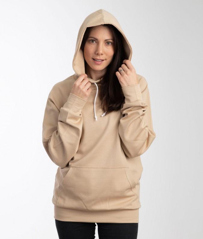 EMF Protective Womens Hoodie Leblok (Beige)