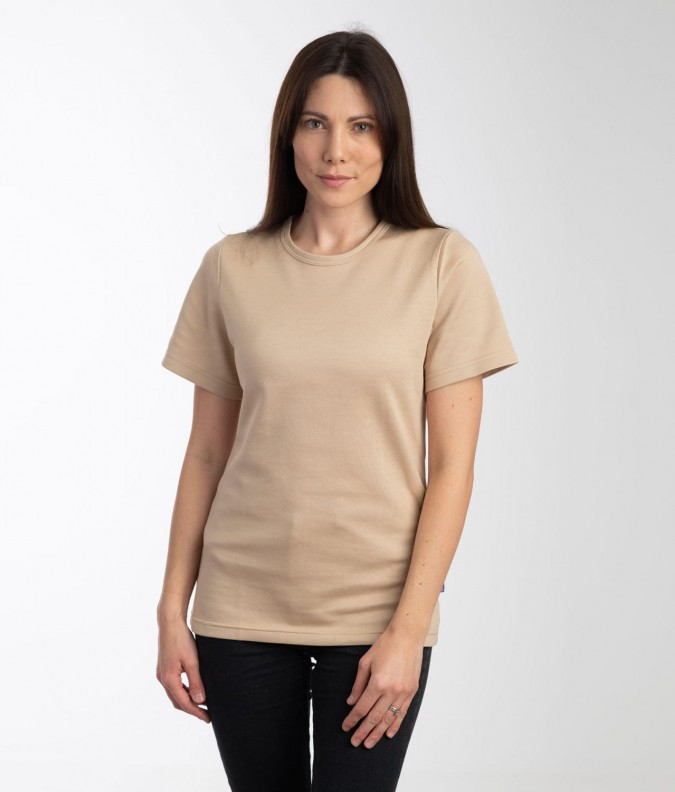 EMF Protective Womens T-Shirt (Beige)