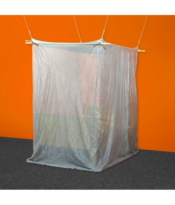 VAT Exempt EMF Protective Single Box Canopy Silver-Tulle